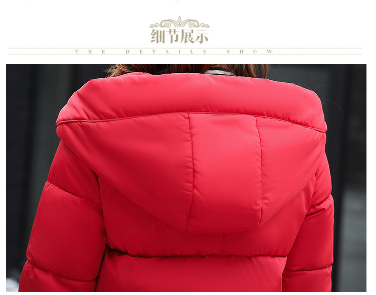 2017 Winter New Hot Fashion Female Cotton-padded Hooded Loose Long Parkas Coats Women Thick Warm Long Sleeve Zipper Jackets
