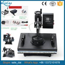 8 In 1 Combo Heat Transfer Machine Sublimation Heat Press Machine For Plate Mug CapTShirt Phone case(China (Mainland))
