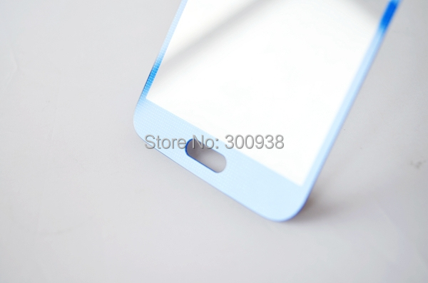Free Shipping10pcs/ lot Light Blue Color Front Lens Glass Cover Touch Screen Glass Replacement For Samsung Galaxy S5 SV G900(Hong Kong)