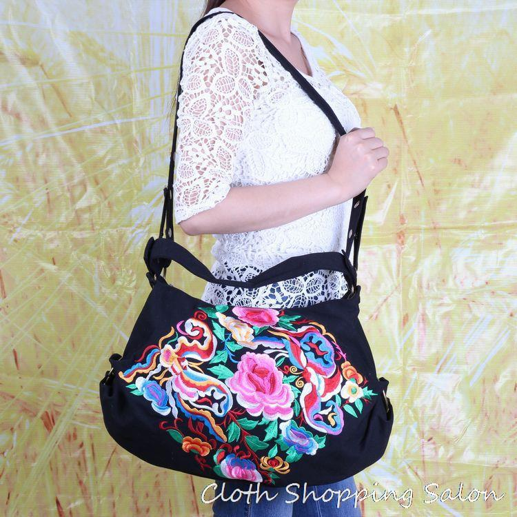 new national trend ethnic embroidery bag embroidered shoulder Messenger bags  handmade canvas women's big handbag маска сварщика fubag ultima 5 13 panoramic black