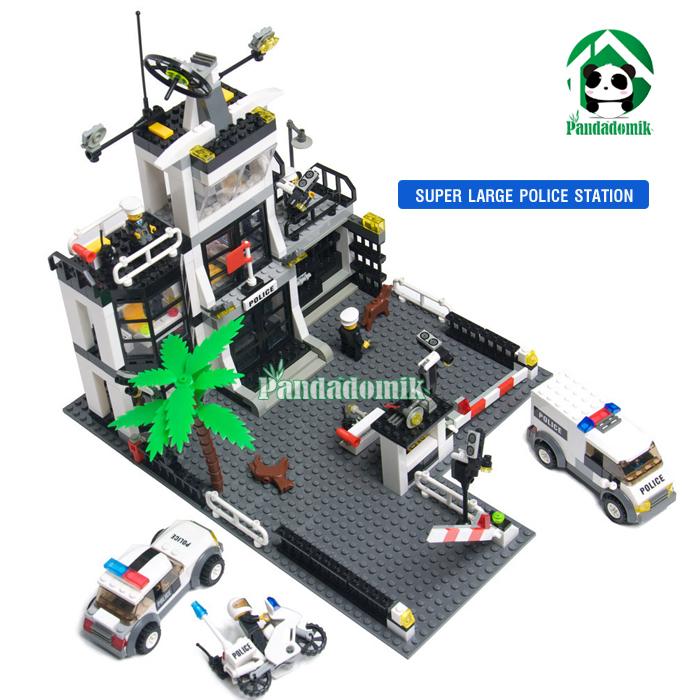 Super Large Police Station Building Blocks Compatible with lego Car Motorcycle / Educational Bricks Toys/ brinquedos educativos(China (Mainland))