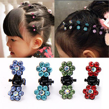 Buy 10 PCS New Baby Mini Plum Crystal Hair Claws Hairpins Girls Hair Accessories Children Hair Clips Kids Headwear Princess Barrette for $1.35 in AliExpress store