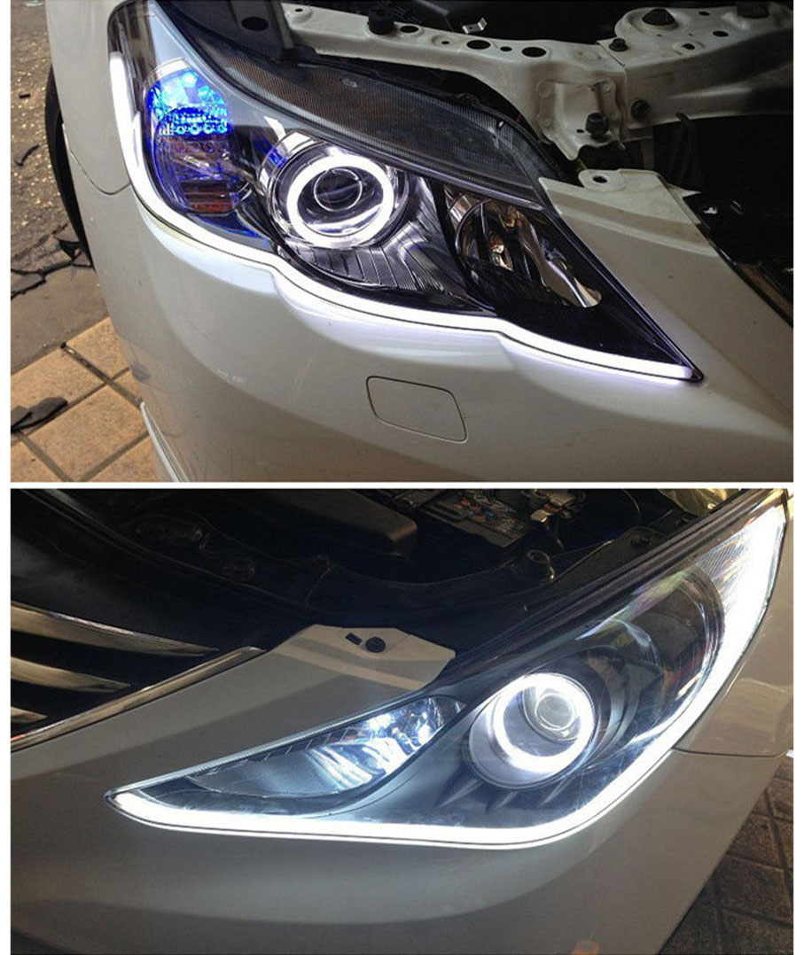 2PCS 45CM Free shipping! TXD Car DRL LED Daytime Running Soft Tears headlight Strips Steering Lights xenon white LED LIGHT(China (Mainland))