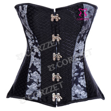 Vintage Steel Boned Stempunk Corsets Sexy Ring Buckle Closure Gothic Corset & Bustier Women Burlesque Corselet