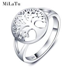MiLaTu 100% Реального Стерлингового Серебра 925 Обручальные Кольца Для Женщин Пирсинг Жизнь Дерева Обручальное Кольцо Дружба Ювелирные Изделия R006S(China (Mainland))