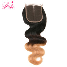 Buy Brazilian Ombre Body Wave Lace Closure Middle Part Hair Closure 1Pc Brazilian Remy Hair Body Wave 3 Tone Ombre Clsoure for $41.90 in AliExpress store