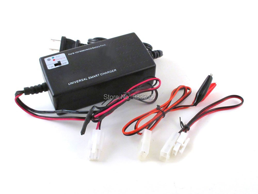 OEM Charging current Selection Universal Smart Charger For 6v - 12v NiMH/NiCD Battery Packs (For RC or Airsoft Battery Packs)(China (Mainland))