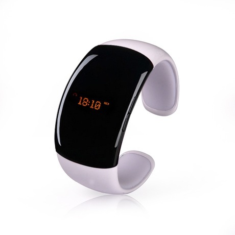 Free shipping HO! White/Red Smart bluetooth Watch bracelet Outdoor Sports Hands-free Phone Radio station Music Women Companion(China (Mainland))