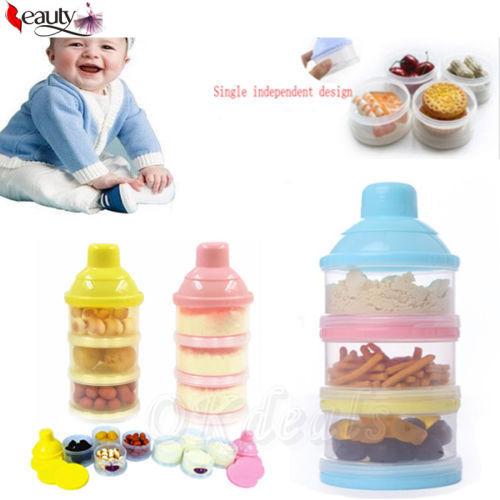 Портативный новорожденных и вскармливание сухое молоко и еды бутылка контейнер 3 ...
