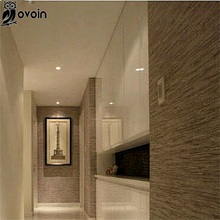 Beige brown pvc wrinkled Simple background 3D modern textured striped wallpaper plain solid color wall paper for bathroom(China (Mainland))