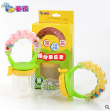 Le Bao baby rattles fruit nutrition food bags bite 4 months baby food supplement feeding tools Supplies