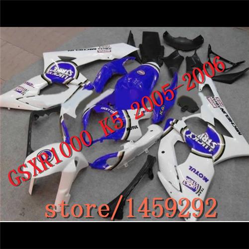 05-06 GSXR1000 2005 2006 GSXR 1000 Bodywork Fairing K5 150 blue black(China (Mainland))