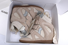 Isabel Marant suede sneakers beige height increasing womens fashion sneakers wedge shoes 2015 new style fashion