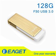 EAGET F50 USB 3.0 128GB 128G pen drive usb 3.0 flash drive pendrive 3.0 128gb pendrive 128 gb 3.0 Waterproof Gift memory stick(China (Mainland))