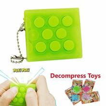 Mugen Puchi Puchi Keychain,Puchi Puti Electronic Bubble Wrap Key ring Vent Decompress Toy,Pop infinite air bubble Jokes Gag Toys(China (Mainland))