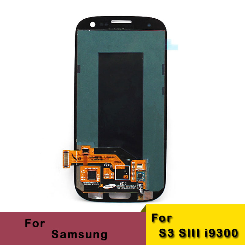 Lcd with touch screen digitizer assembly for For Samsung Galaxy S3 SIII i9300 Grey colour,free shipping with trucking No(China (Mainland))
