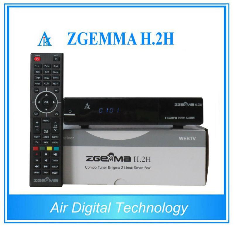 2 pcs/lot ZGEMMA H.2H DVB S2 + DVB T2/C Combo satellite + terrestrial&cable tv receiver no dish(China (Mainland))