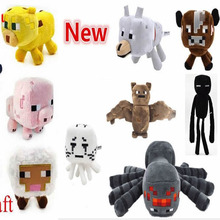1Piece Wholesale Minecraft Plush Toys Ghast/Enderman/Mooshroom/Wolf/Ocelot/Pig/Squid/Bat/Spider/Creeper For Baby Child Gift(China (Mainland))