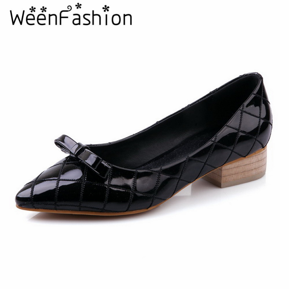 Low Heel Square Toe Shoes For Women