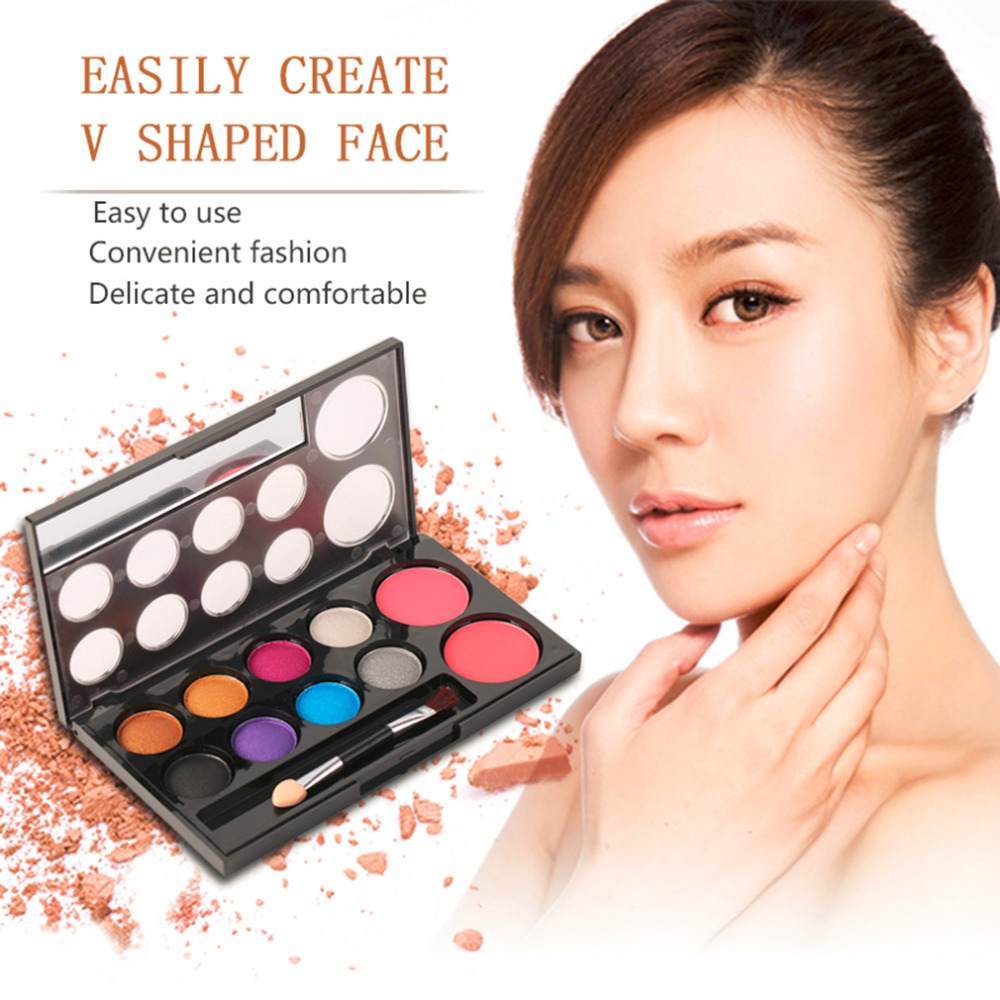 New Fashion 8 Color Eye Shadow and 2 Color Blusher Powder Makeup Cosmetic Palette Tool Hot Selling