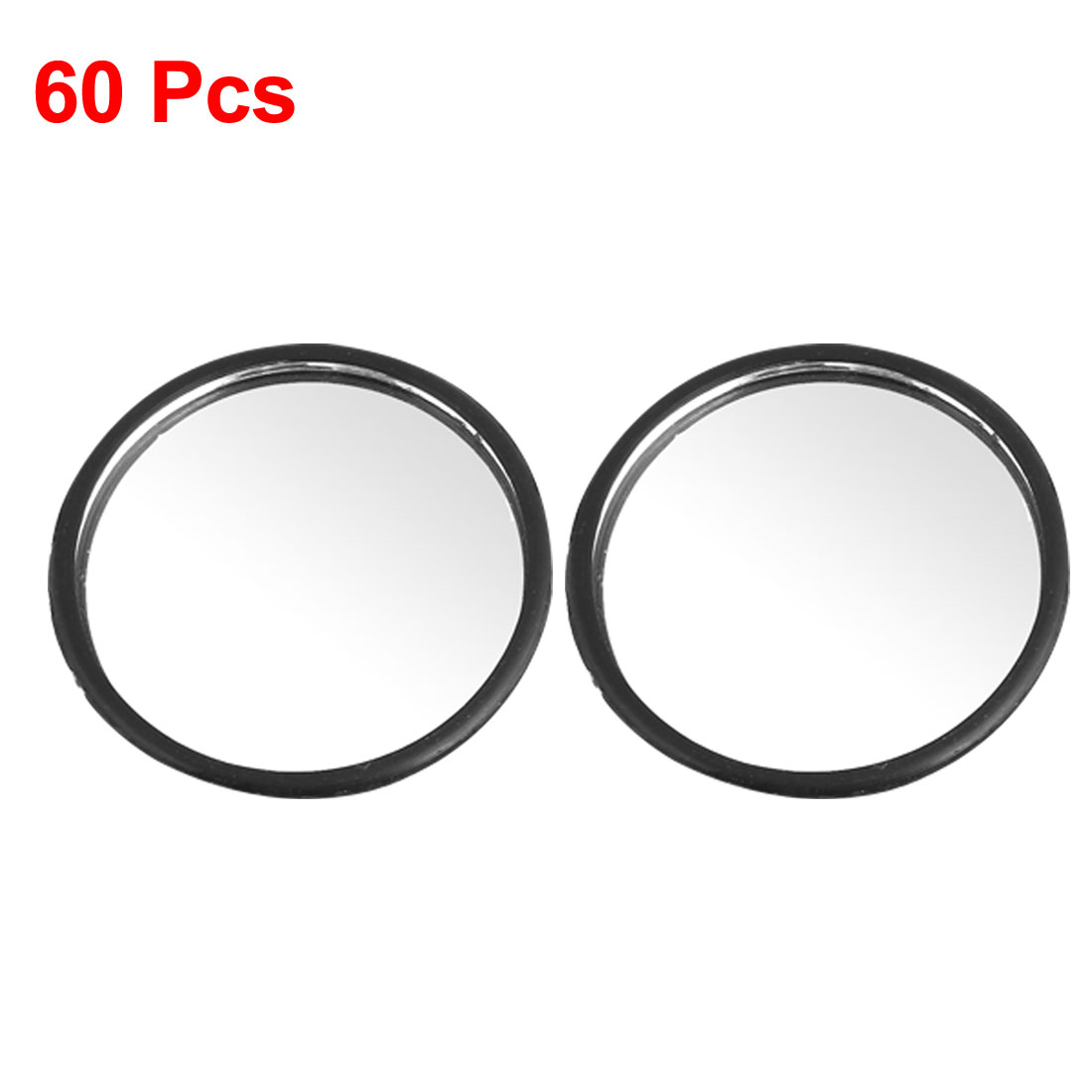 50mm 60 Pcs/lot Black Plastic Wide Angle Round Convex Car Blind Spot Mirror Diameter 5cm(China (Mainland))