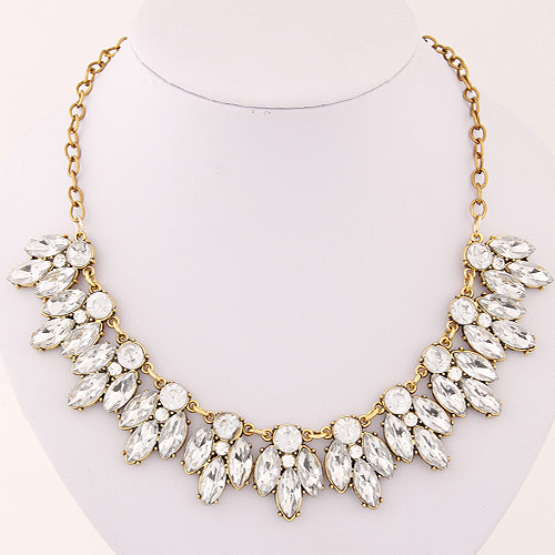New Brand Women Collar Vintage Statement Choker Crystal Cubic Zircon Diamond Chain Necklaces&Pendants Fine Jewelry A221(China (Mainland))