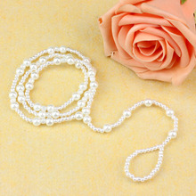 1pc Unique Nice Fashion Sexy Women Pearl Bead Ankle Chain Anklet Bracelet Foot Jewelry Sandal Beach