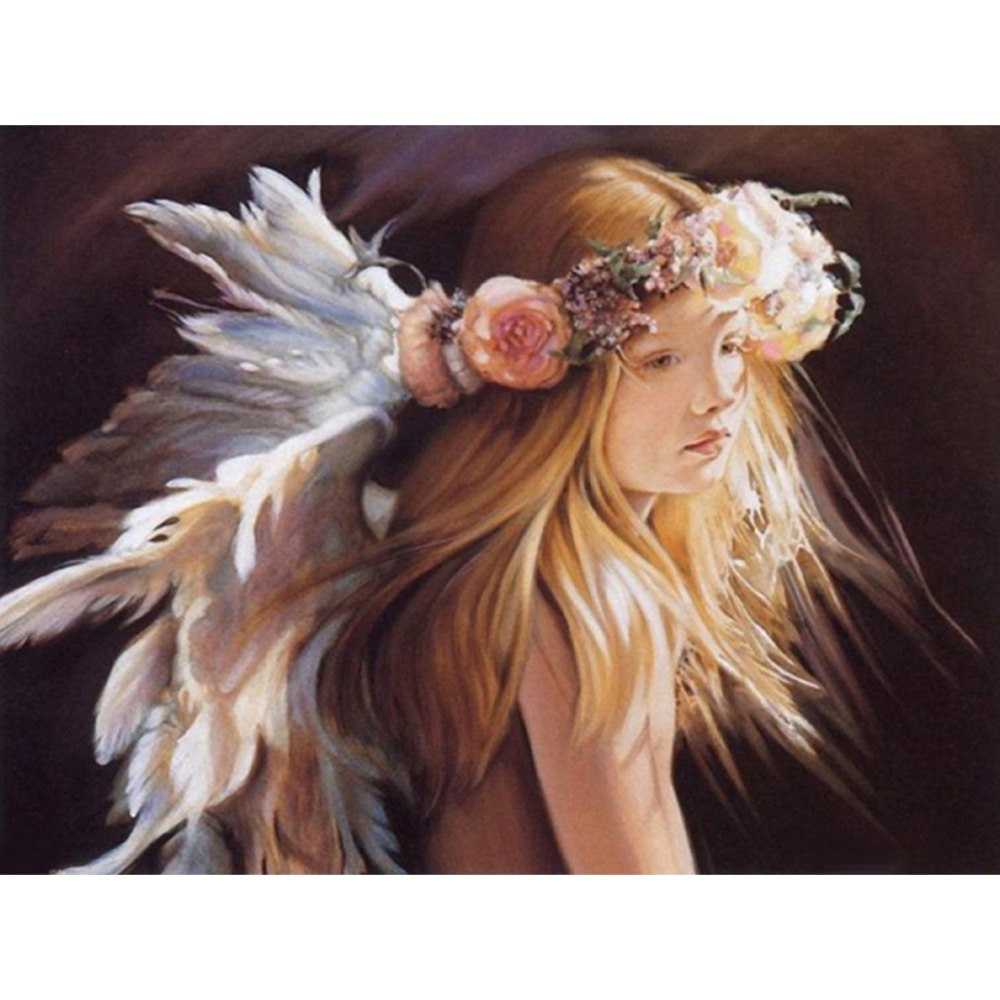 Diy Diamond Painting Cross Stitch Mosaic Font Angel Wings Drawings Reviews Online Shopping Aliexpress