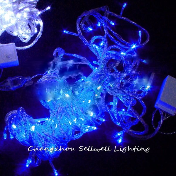 GREAT!LED star lighting yard decoration 13m blue star lamp H257(China (Mainland))