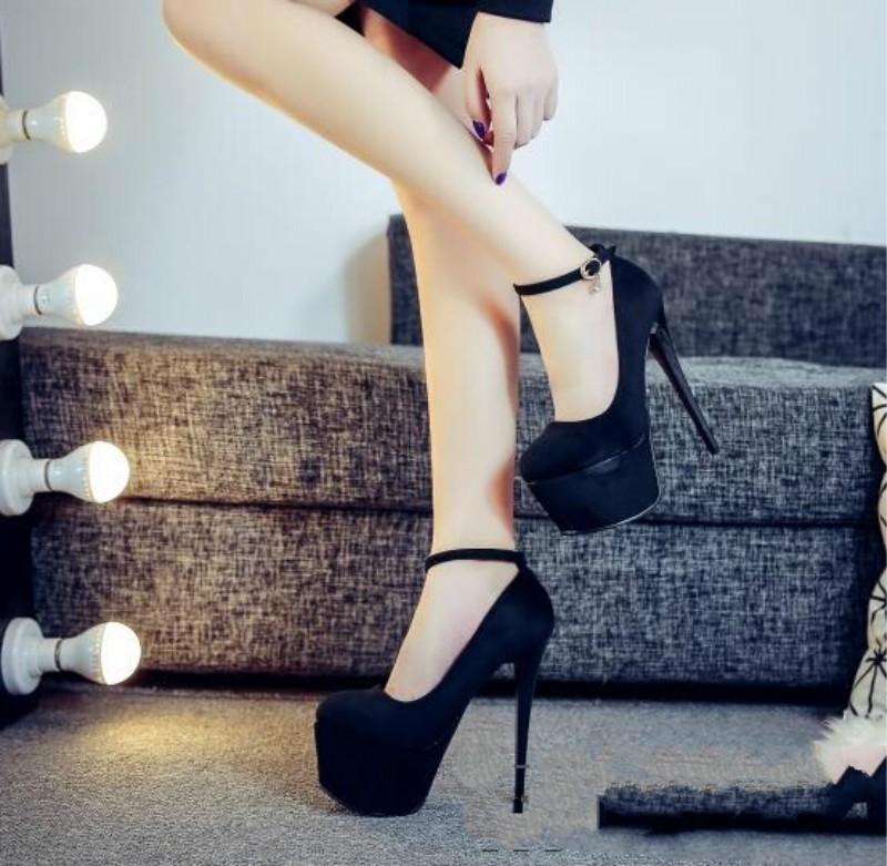ซื้อ ป่าเซ็กซี่ไนท์คลับ14เซนติเมตรซูเปอร์รองเท้าส้นสูงผู้หญิงรองเท้ากันน้ำกับสายบาง