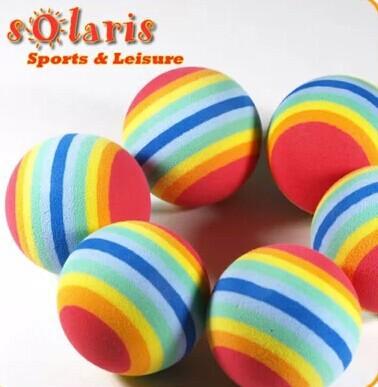10pcs+EVA Foam Golf Balls Rainbow Sponge Indoor Practice Training Aid Swing Backyard-Red(China (Mainland))
