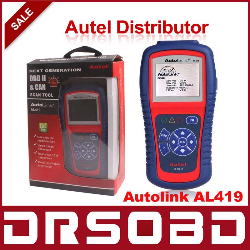 Auto Diagnostic Scan Autel AutoLink AL419 OBD II & CAN Code Reader Auto Link AL-419 Update Official Website(China (Mainland))