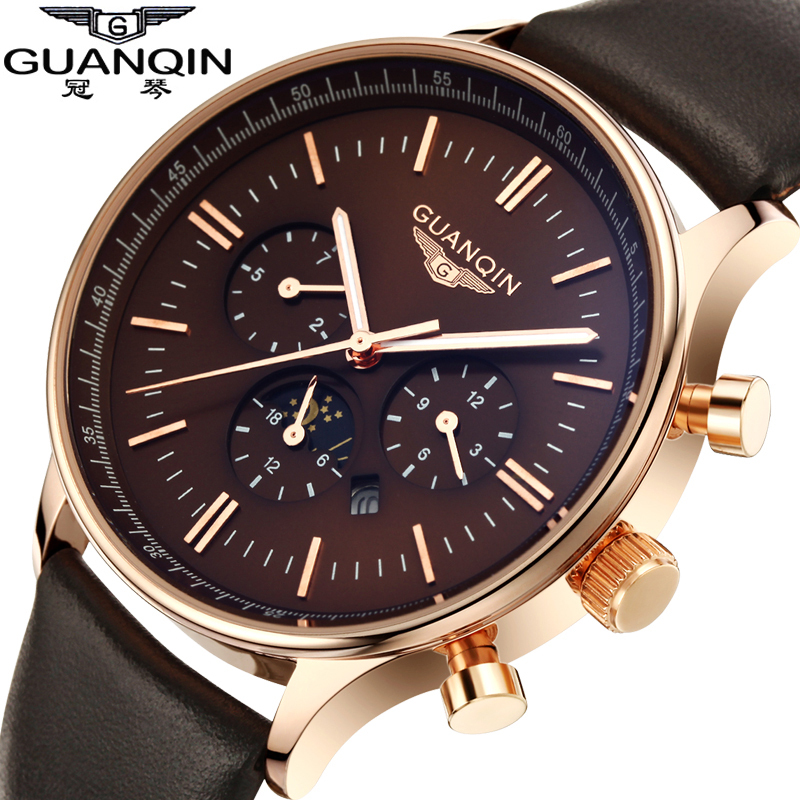 Watches Men Luxury Top Brand GUANQIN New Fashion Men s Big Dial Designer Quartz Watch Male