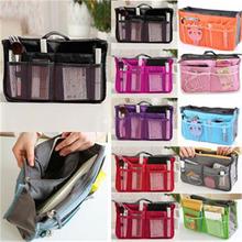 2015 HOT Women Travel Insert Organizer Handbag Purse Large liner Lady Makeup Cosmeti BagTravelling Bag Multifunction