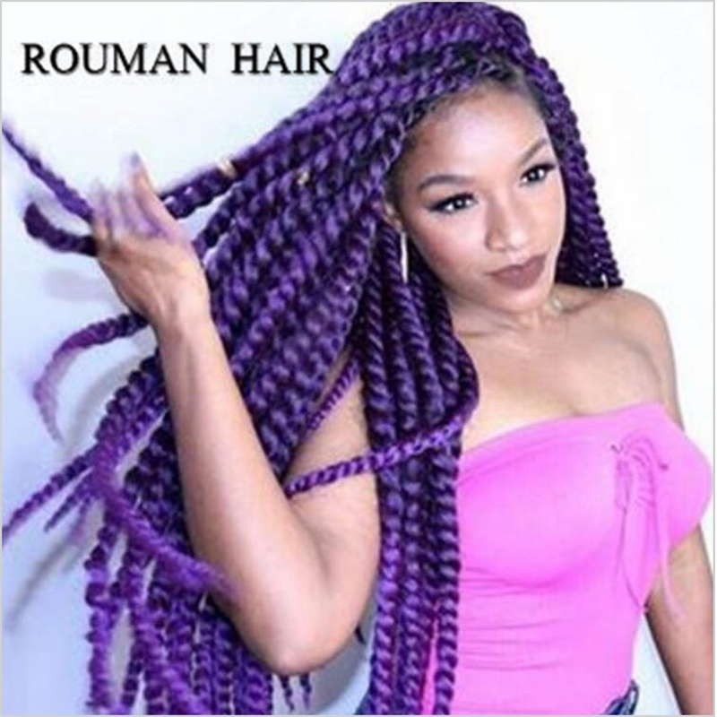 Crochet Braids Purple : FREE SHIPPING Havana Mambo Twist Crochet Braid Hair purple/120g 2X ...