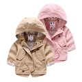 2016 New Fashion Children outerwear pure cotton dovetail trench Sleeve Windbreaker baby kids in long zipper