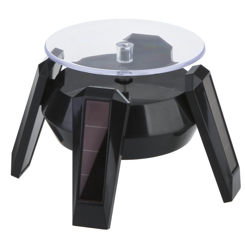 Romacci Solar Powered Display Stand Jewelry Phone Rotating Display Stand Turn Table Low Power Consumption Environmental Friendly(China (Mainland))