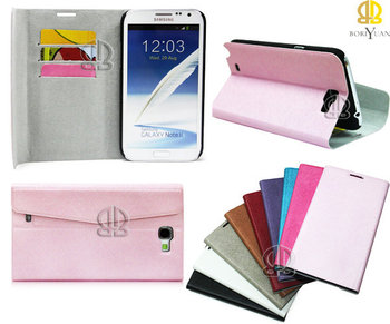 High quality  Leather case for N7100 Galaxy Note 2 ii Stand  Wallet Credit Card holder China  Post Free shipping