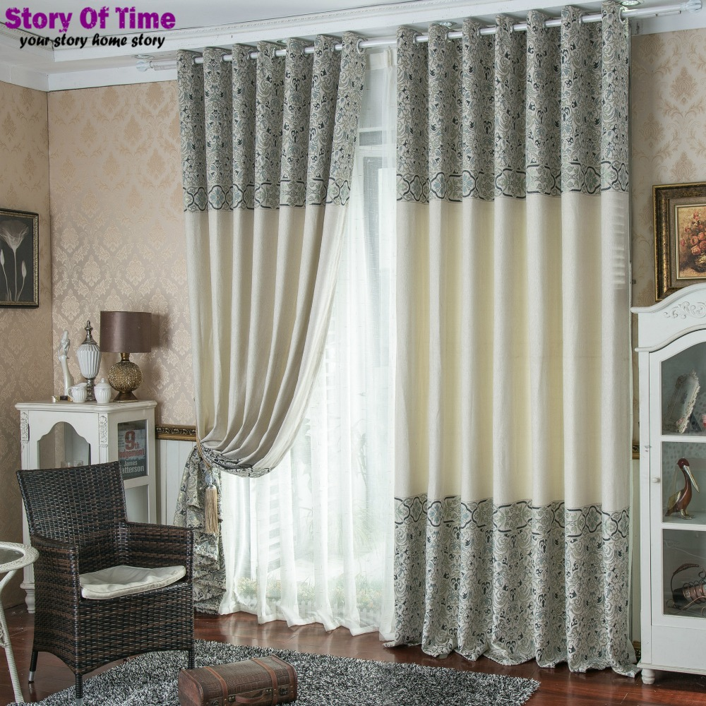 Drapes insulated blackout curtains style jacquard polyester decoration curtains for living room curtain and drapery(China (Mainland))