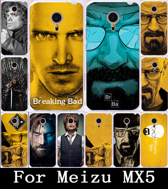 Cool TV Breaking Bad Walter White Meizu MX5 Case,Fashion Painted Hard PC Back Capa Coque Case For Meizu MX5 Cellphone Case Cover(China (Mainland))