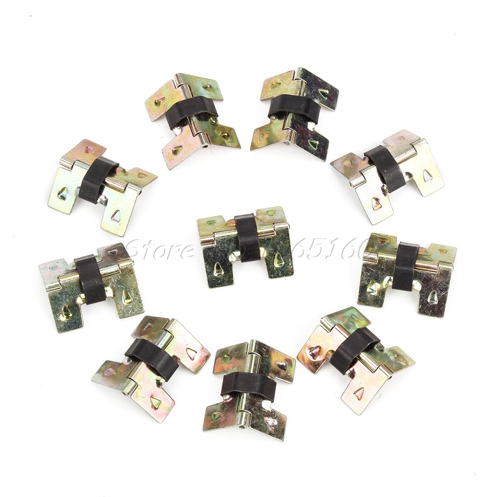 10pcs Bronze Vintage Mini Spring Hinges For Cabinet Drawer Box DIY Repair(China (Mainland))