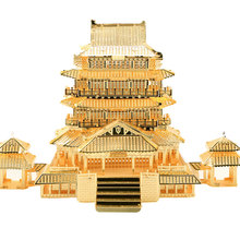 Piececool 3D DIY Steel Metal Puzzles China Famous Building Models Yellow Crane Tower/Tengwang Pavilion Toys Adult Children Gift(China (Mainland))
