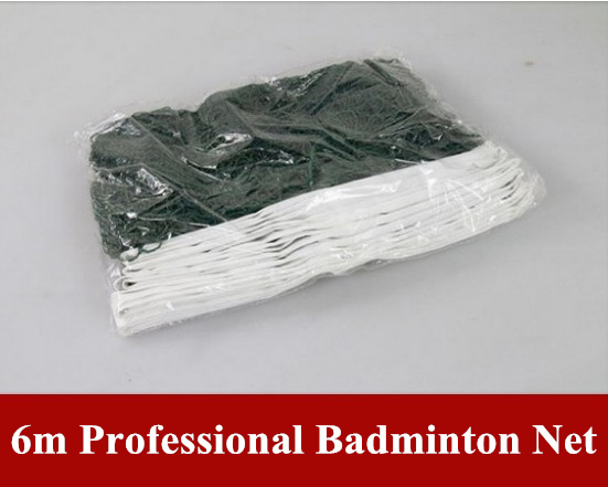 Free Shipping badminton net standard size good for indoor and outdoor 6m wholesae form factory 2pcs/lot(China (Mainland))
