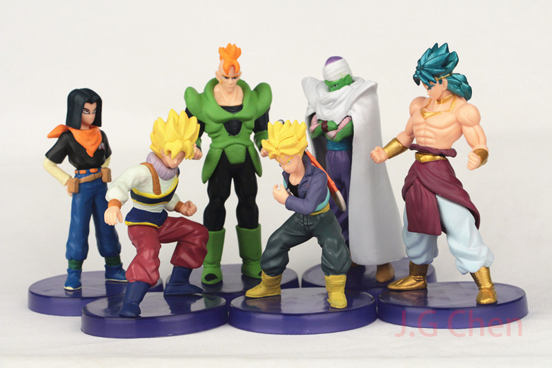 J.G Chen 2015 New 41Generation Dragon Ball Z Trunks Piccolo Android #16 #17 PVC Action Figures Toys 12CM 6pcs/Set(China (Mainland))