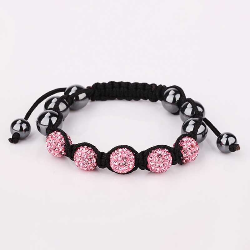 Free Shipping wholesale 2015 New african beads black and pink crystal Costume Jewellery(China (Mainland))