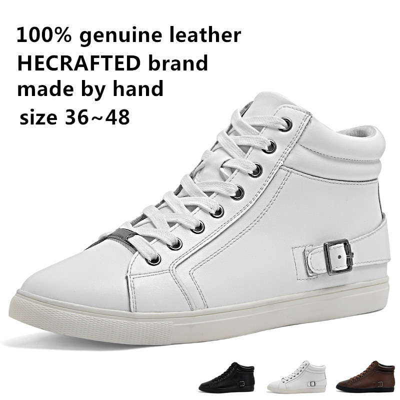 2014 Genuine leather Fashion men sneakers,ked or canvas shoes(China (Mainland))