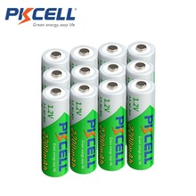 12 x PKCELL Low self-discharge Durable AA Battery 1.2V 2200mAh Ni-MH Rechargeable Batteries 1.2 Volt 2A Batteries(China (Mainland))