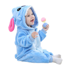 Spring Autumn Baby Clothes Flannel Baby Girl Rompers Cartoon Animal Baby Boy Clothes Jumpsuit   Baby Clothing  Gifts(China (Mainland))
