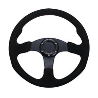 Car Steering Wheel Black Gray Suede Leather Hole-digging Breathable Q5 Slip-resistant Universal Auto Supplies Car Accessories