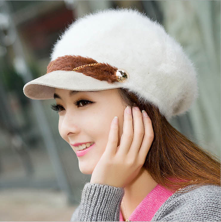 HDD-18 Faux fur hat women Fall/ winter Beanie hat Fashion Touca Hats for women Chapeu feminino Cap women(China (Mainland))